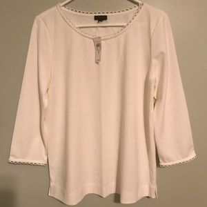 Ann Taylor Factory M top with scalloped edges